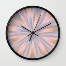 Iced Coffee Serenity Rose Quartz Pattern 3 Wall Clock