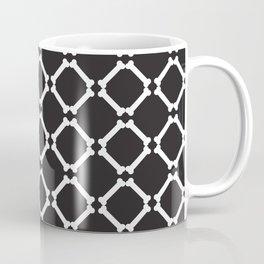 Halloween Pattern bones on black background goth dark emo Coffee Mug