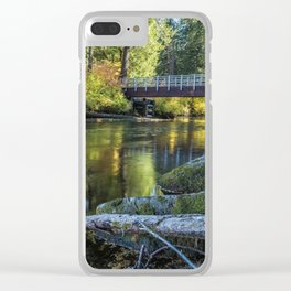 Fall at Clear Lake, No. 1 Clear iPhone Case