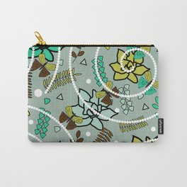 Spring butterflies, flowers and beads Carry-All Pouch