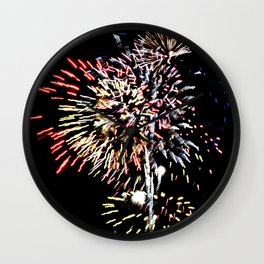 Fireworks 9 Wall Clock