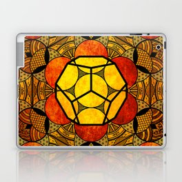 Sacred Geometry for your daily life -  Platonic Solids - ETHER COLOR Laptop & iPad Skin