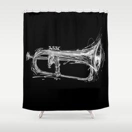 Flugelhorn Shower Curtain