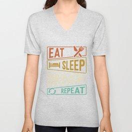 Eat Sleep Drums Repeat Drums Hobby Unisex V-Neck