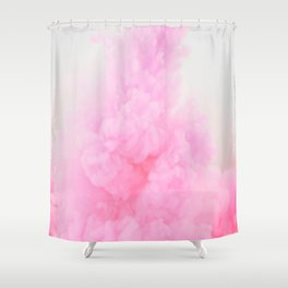 Pink Neon Smoke Clouds Shower Curtain
