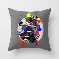 vader Throw Pillows featuring VADER by vicotera