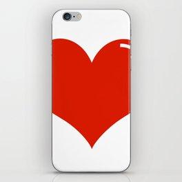 Heart Sticker iPhone Skin