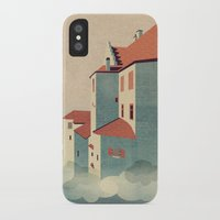 castle in the sky iPhone & iPod Cases featuring Castle in the Sky by Schwebewesen • Romina Lutz