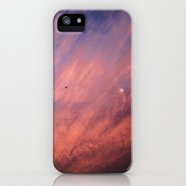 When a sunset meets the moon iPhone Case