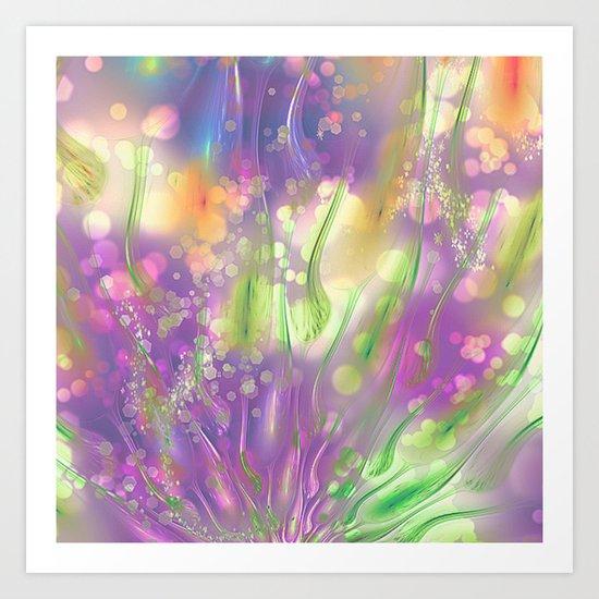 Magic Flowers Art Print