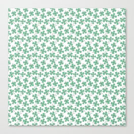 Pattern Project #53 / Four Leaf Clovers Canvas Print