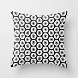 Geometric Pattern 246 (stars in circles 2) Throw Pillow