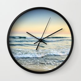 Serenity sea. Vintage. Square format Wall Clock