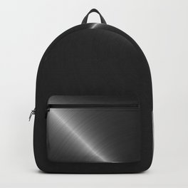 Metallic Bright Polished Steel Backpack