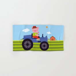 Pig on Tractor Hand & Bath Towel
