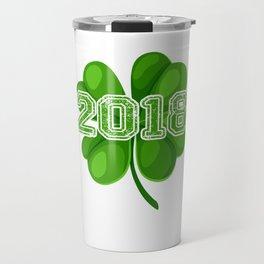 2018 Shamrocks Irish Clover St Patricks Travel Mug
