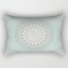 Mint Taupe Mandala Rectangular Pillow