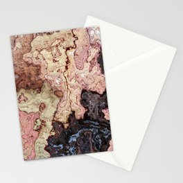 beige pink puce brown graphite marble Stationery Cards