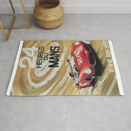 1963 Le Mans poster, Race poster, car poster, garage poster Rug