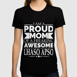 Proud mom Lhasa Apso Dog Mom Owner Mother's Day T-shirt