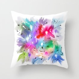 Abstraction flowers patern2 Throw Pillow