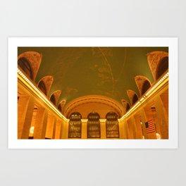 Grand Central Ceiling Art Print