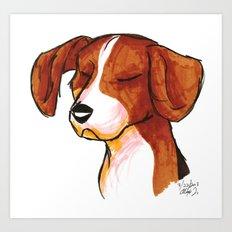Brush Breeds-Beagle Art Print