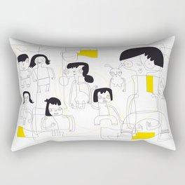 gente urbanita yellow Rectangular Pillow