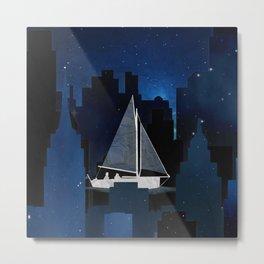 City Sailing Metal Print