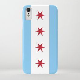 Chicago Flag, Official Flag of the City of Chicago iPhone Case
