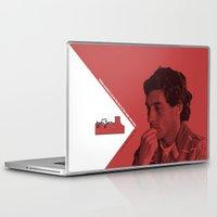 senna Laptop & iPad Skins featuring Ayrton Senna 1960-1994 by design.declanhackett