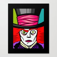 mad hatter Canvas Prints featuring Mad Hatter by Artistic Dyslexia