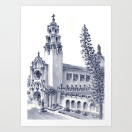 USD The Church of The Immaculata Art Print