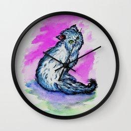 Persian cat sketch Wall Clock