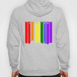 New London Connecticut Gay Pride Rainbow Skyline Hoody