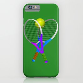 Tennis Rackets and Ball iPhone Case