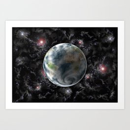 Planet Earth-Space Art Print