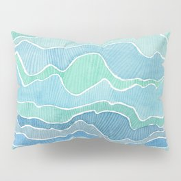 water, ripples and currents Pillow Sham