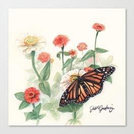 Monarch Study Canvas Print