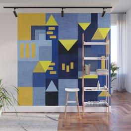 Blue Klee houses Wall Mural