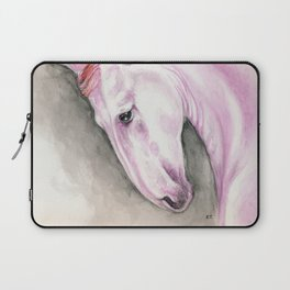 Purple Pink Andalusian Horse Equine Watercolor Art Laptop Sleeve
