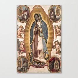 Virgin of Guadalupe, 1700 Canvas Print
