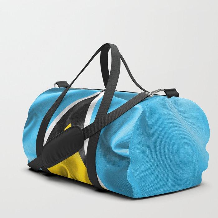 Saint Lucia Flag Duffle Bag