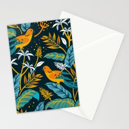 Birds in the night Stationery Cards