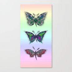 Rainbow Butterflys Canvas Print