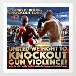 Legends of Boxing Knockout Tour Art Print