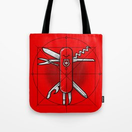 Vitruvian Swiss Knife Tote Bag