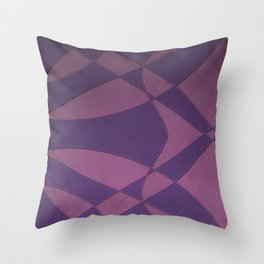 Wings and Saild - Purple and Pink Throw Pillow