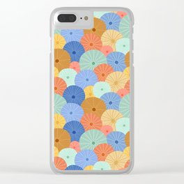 Colorful Sea Urchins Clear iPhone Case