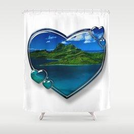 I Love Bora Bora 2 Shower Curtain